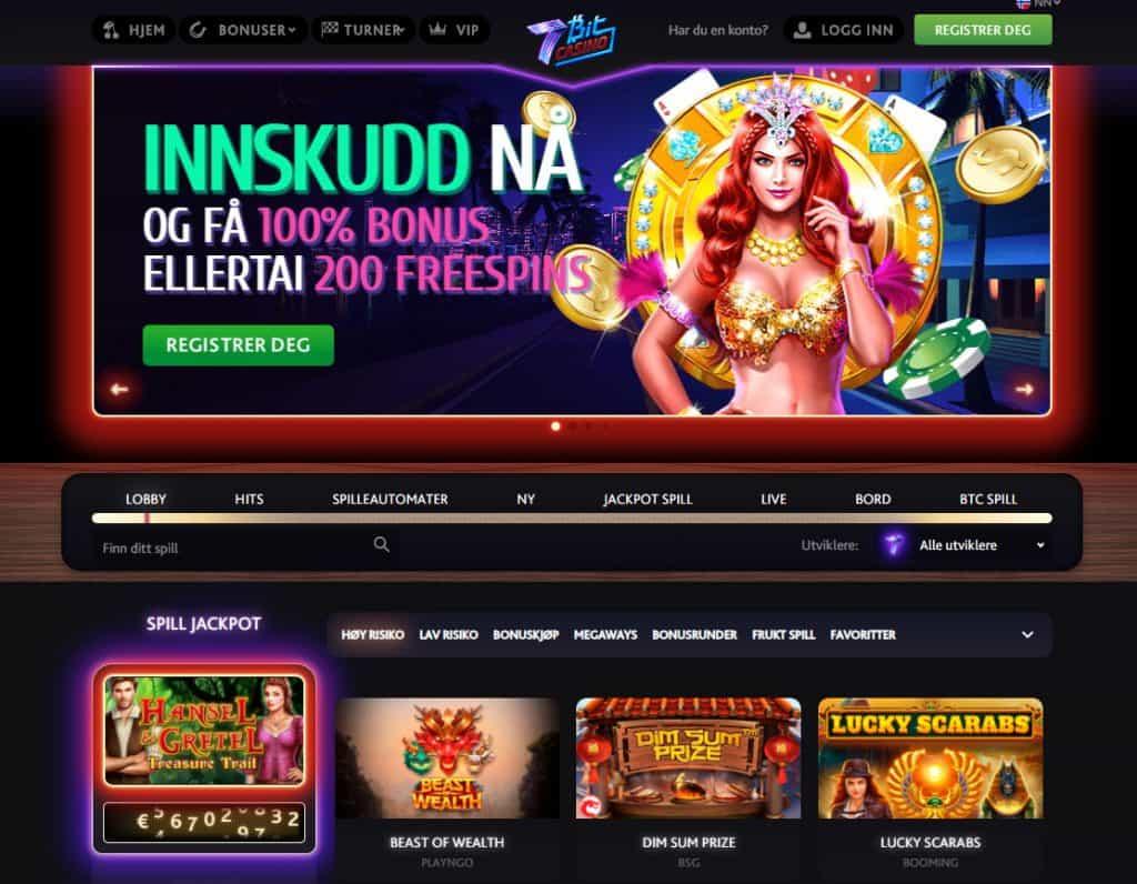 7Bit Casino forside