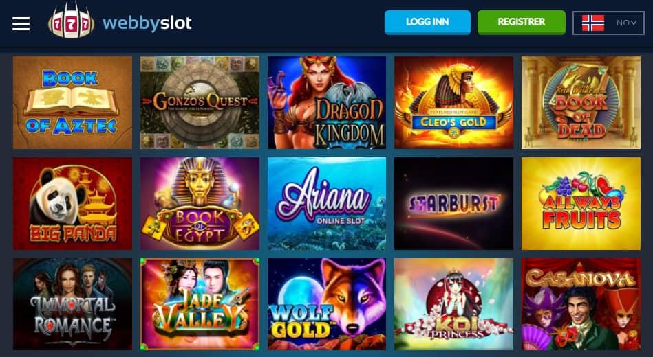 WebbySlot Casino spilleautomater