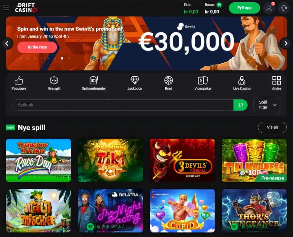 Drift Casino Norge